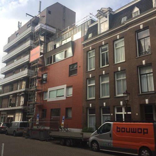 Verbouw Eikenweg Amsterdam, realiseren dakopbouw.